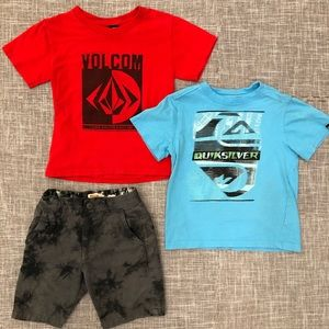 Volcom Quicksilver toddler boy bundle 4t 5t